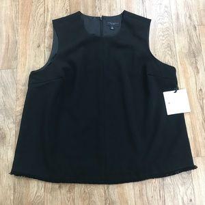 Victoria Beckham Black Sleeveless Blouse Sz 1X NWT